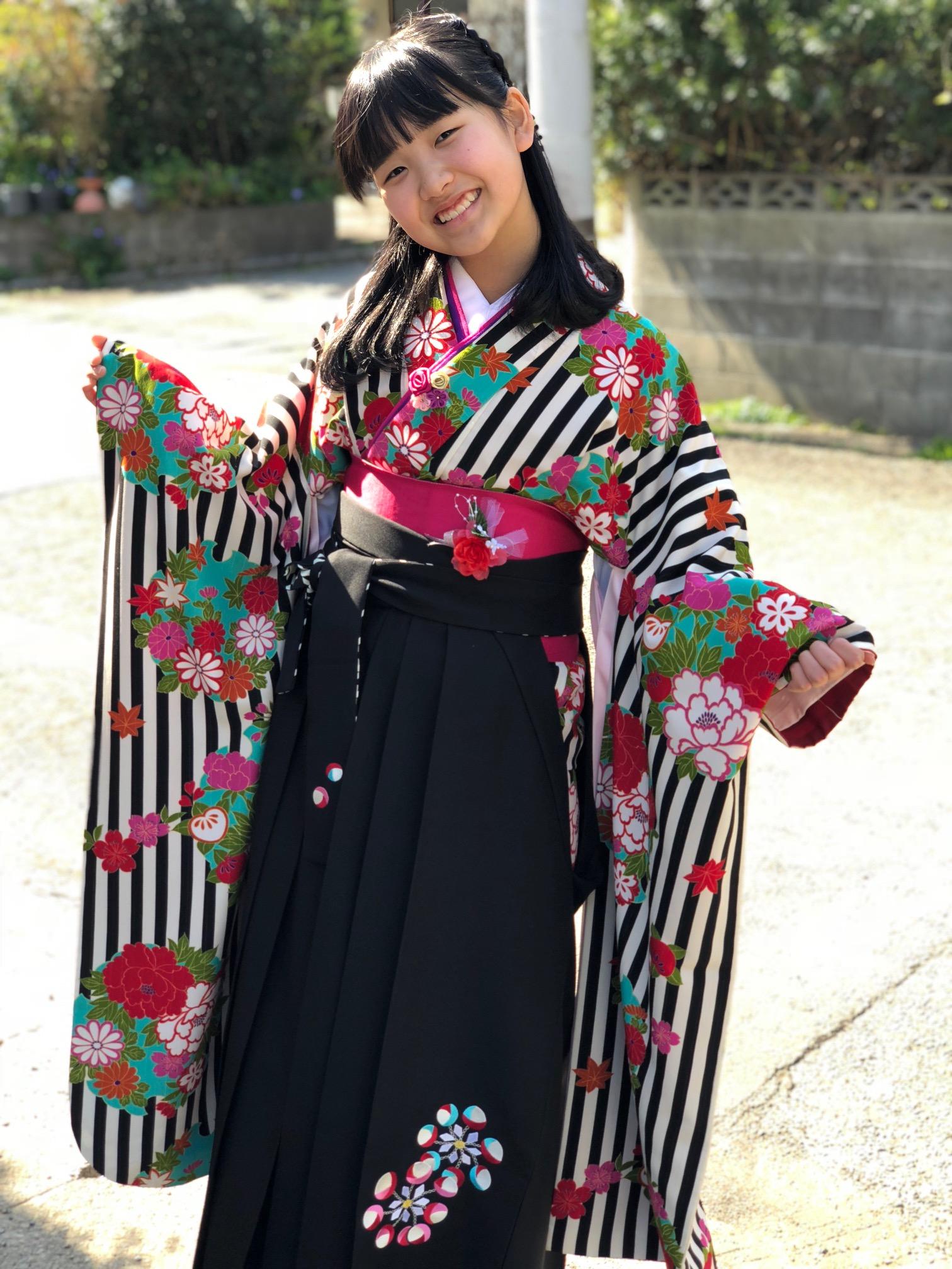 【袴】素敵な卒業式を終える事が出来ました!
