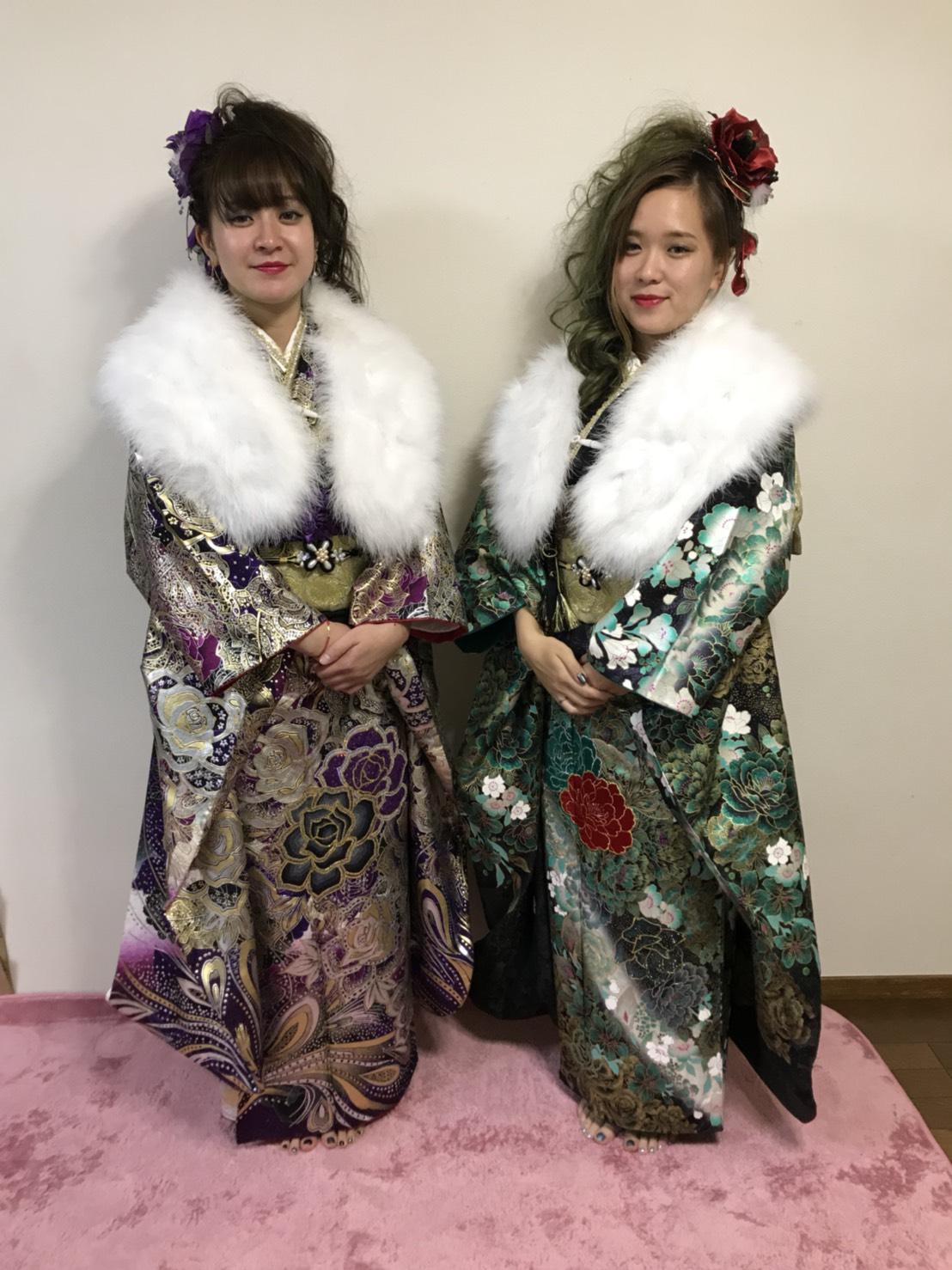 【振袖】双子で成人式