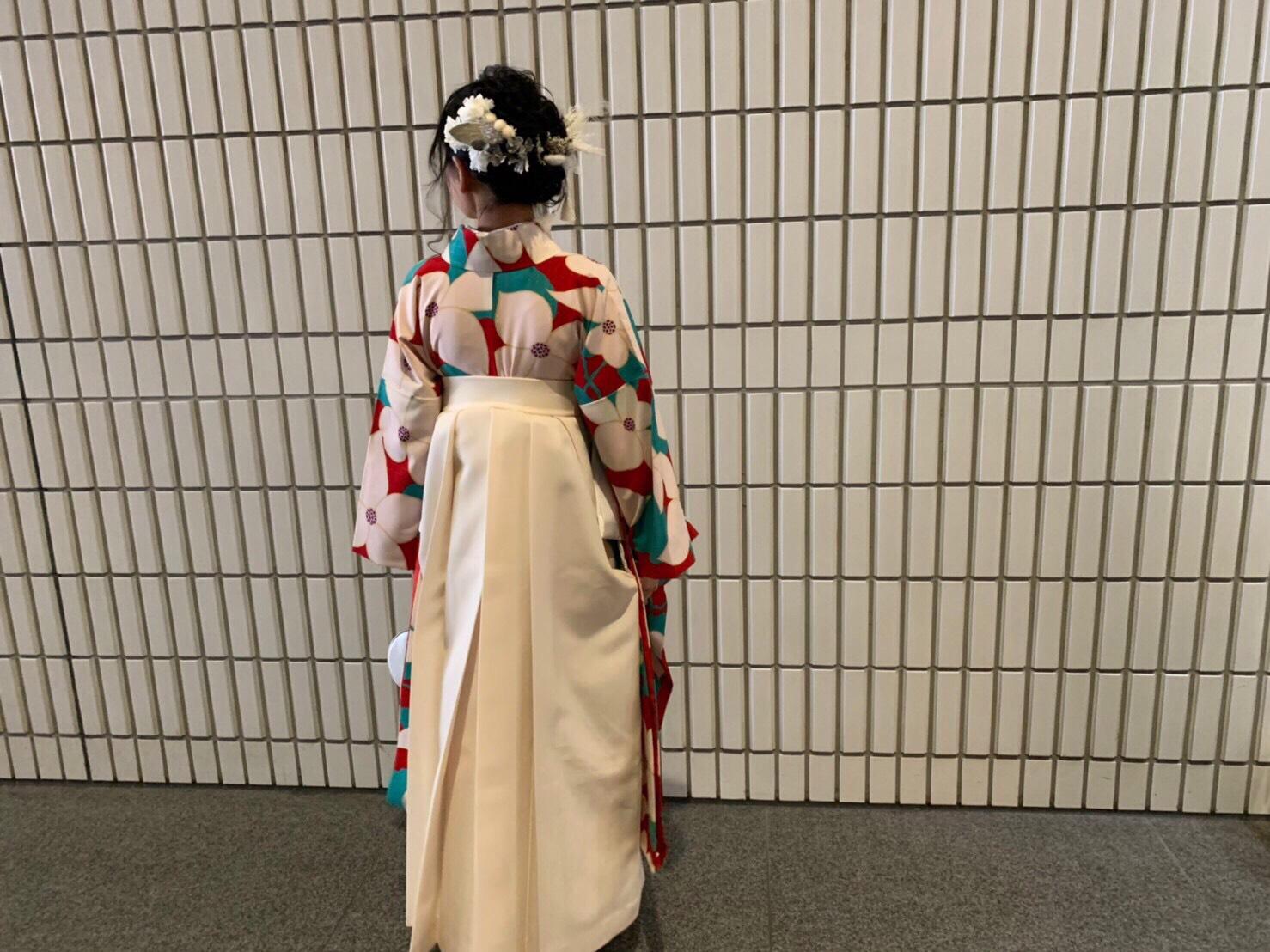 【袴】理想通りの袴コーディネートでした