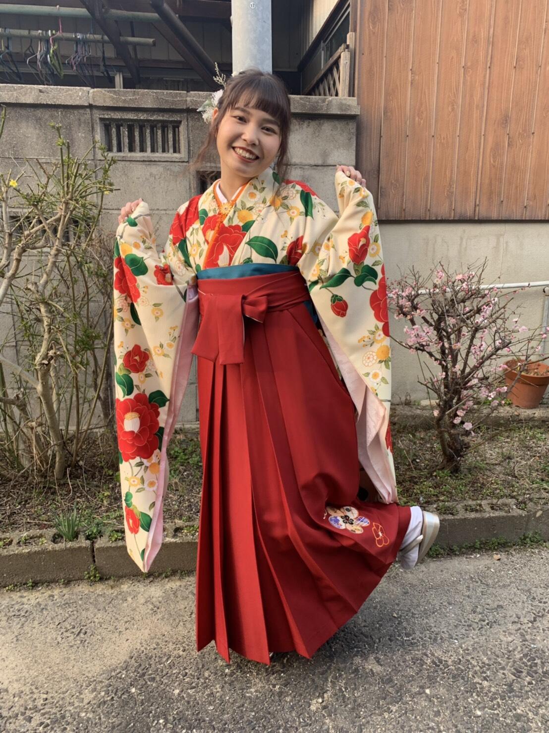 【袴】無事に卒業式を終えました!