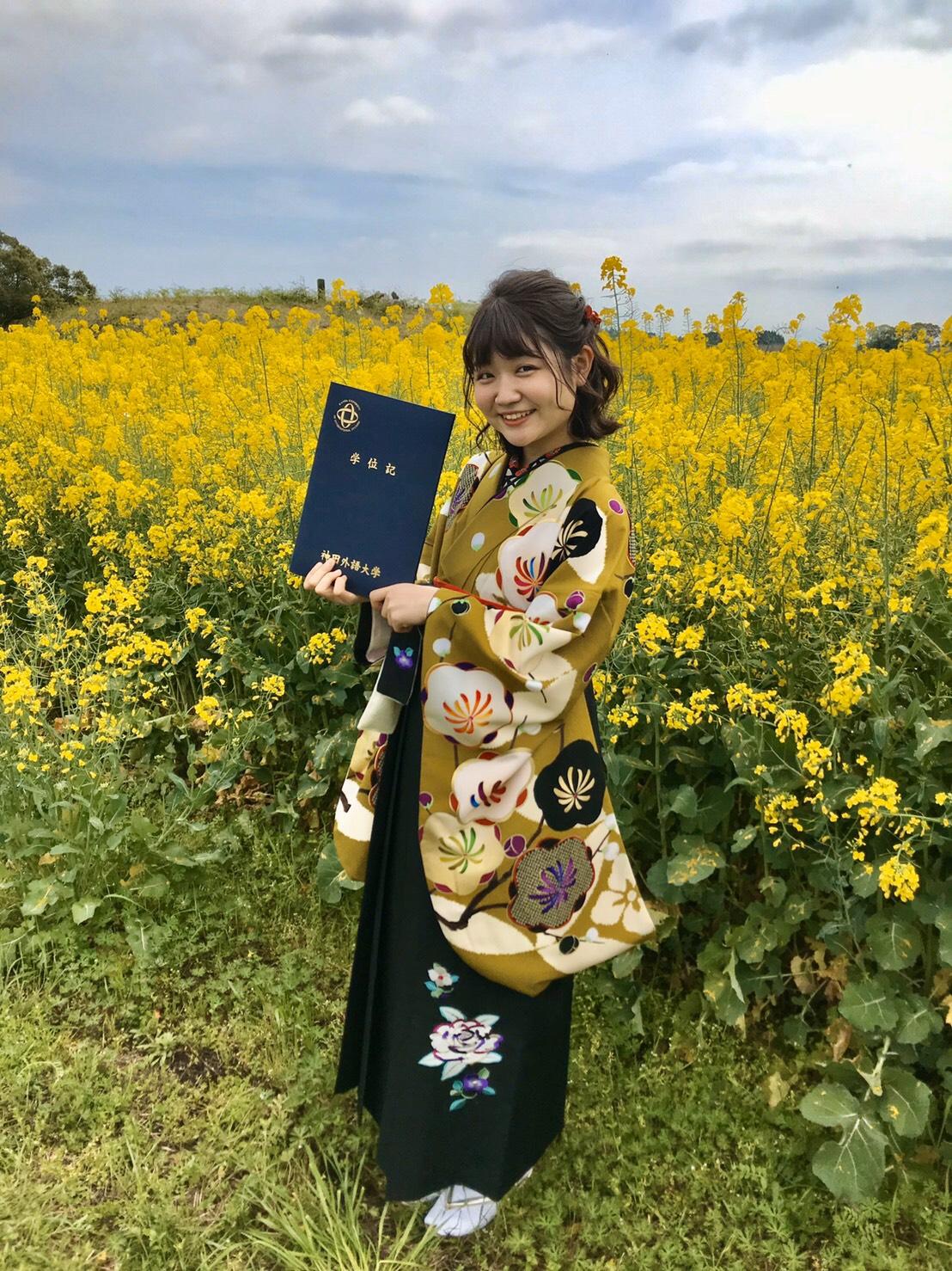 すっとこの袴を着るのを楽しみにしていました。