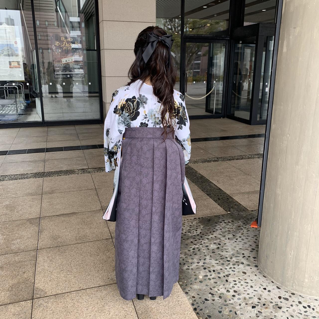 卒業式当日も人とは違った袴でとても気に入りました!!