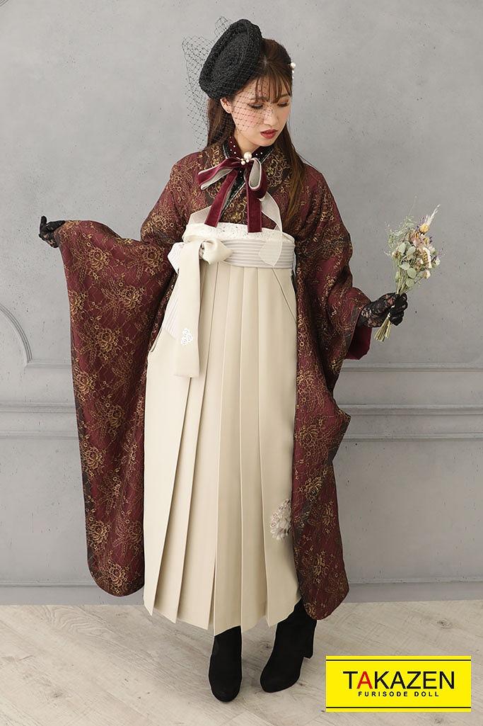 最旬💕お袖の長い中振袖の袴が大人気✨✨✨